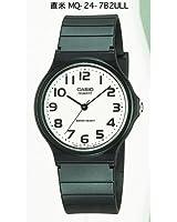 Casio - Vintage - MQ-24-7B2LEF - Montre Homme - Quartz Analogique - Cadran Blanc - Bracelet Résine Noir
