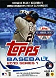 2013 Topps Series 1 MLB Baseball EXCLUSIVE Factory Sealed Retail Box+BONUS PATCH RELIC CARD!! Brand NEW!! Look for Rare Autograph,Relic , Parallel and 1/1 Bat Knob Cards! Look for Special Code Cards for the $1,000,000 Dollar Chase!! The CHASE IS ON!! Good Luck with your Pulls!