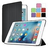 iPad air 2ケース,【IVSO】iPad air 2上質カバー スタンド機能 半透明PC + PUレザー ケース - iPad air 2専用上質ケース 超薄型 最軽量(半透明,ブラック)