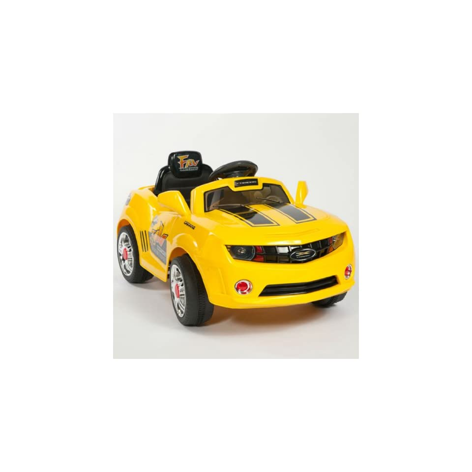 Kids YELLOW Camaro Style Ride On RC Car Remote Control Electric Power Wheels  Toys & Games