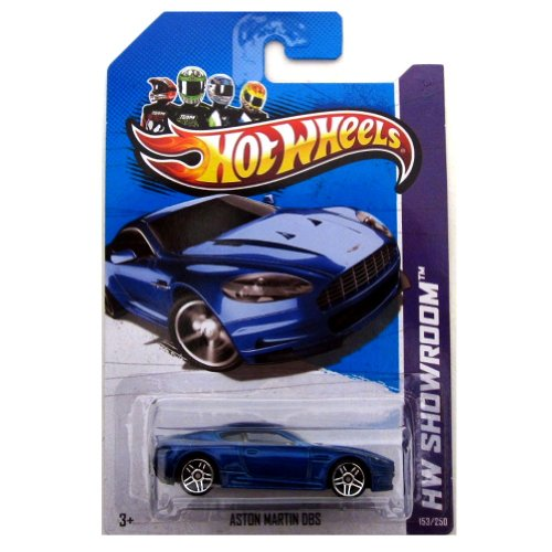 HOT WHEELS 1:64 SCALE #153 OF 250 SHOWROOM BLUE ASTON MARTIN DBS DIE-CAST COLLECTIBLE - 1