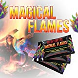 Magical Flames 12-pack: TWICE THE COLOR, half the price! Creates Vibrant, Rainbow Colored Flames - 30day Money Back Guarantee