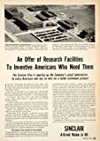 1951 Ad Sinclair Petroleum Oil Research Laboratories Wright Brothers W M Flowers - Original Print Ad