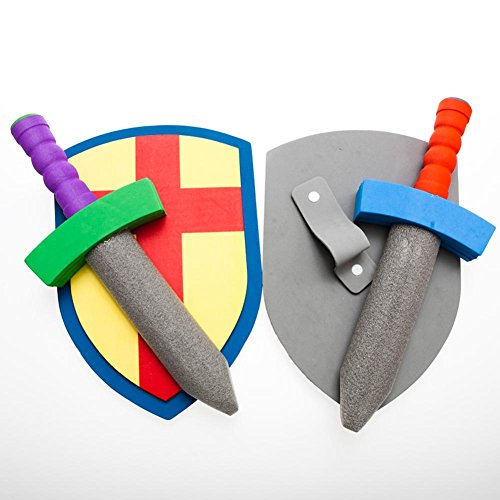 Foam Sword And Armor Set (just 1 set sword + shield) (Colors May Vary) - 1