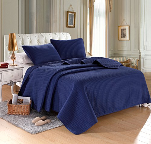 Navy Solid Color Quilt 86