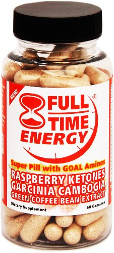 Full-Time Energy AMINO Super Pill with Raspberry Ketones Pure Garcinia Cambogia Extract Green Coffee Bean Extract Plus GOAL Amino Acid Combination Pill - Extreme Diet Pills - The Best Weight Loss Supplements Fat Burners That Works Fast for Women and Men - Dr Recommended GOAL Aminos (Glycine, Ornithine, Arginine and Lysine) 60 Capsules (Garcinia Full Time Energy compare prices)