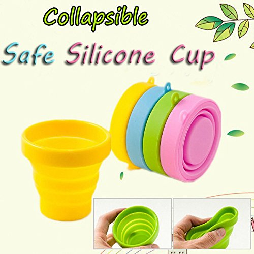 Portable Silicone Retractable Folding Cup Telescopic Collapsible Outdoor Sports Camping Travel Mug
