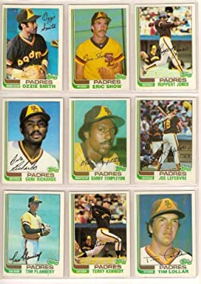 San Diego Padres 1982 Topps Baseball Master Team Set with Year-End Traded Cards (31 Cards) (Ozzie Smith) (Terry Kennedy) (Tim Flannery) (Joe Lefebvre) (Steve Swisher) (Los Angeles) (Californis) (Arizona) (Phoenix)