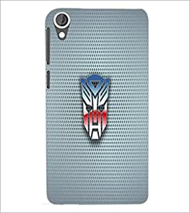 PrintDhaba Mask D-1818 Back Case Cover for HTC DESIRE 820 (Multi-Coloured)