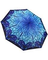 Galleria Stained Glass Dragonfly Folding Umbrella