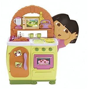 Fisher price dora 39 s talking kitchen toys games - Cocina dora la exploradora fisher price ...