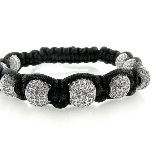 Cream Ice Ball Bracelet 10mm Mens Womens Micro