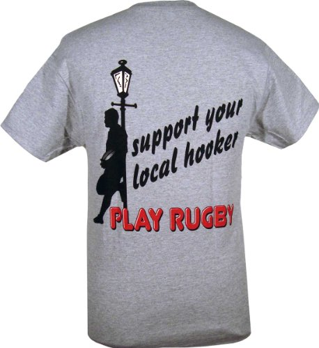 Support your local hooker rugby t shirt l sporting goods for I support two teams t shirt