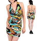 Afboutique Sexy Multi Color Pattern Mini Dress