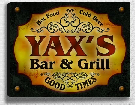 Нет товара на фото Yax's Bar & Grill 14'' x 11'' Collectible Stretched Canvas