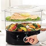 BELLA 7.4 Quart Healthy Food Steamer, Dual Basket