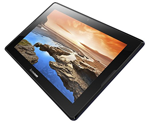 Lenovo A10-70 25,7 cm (10,1 Zoll HD IPS) Tablet (ARM MTK 8382 QC, 1,3GHz, 1GB RAM, 16GB eMMC, 5MP Cam, GPS, 3G/UMTS, Touchscreen, Android 4.2) midnight blau