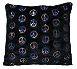Brunton International Peace Bling Pillow 20 by 20-Inch Black