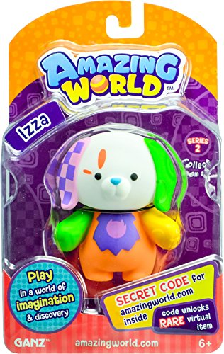 Amazing World Figures Izza Dog (From the Creators of Webkinz)