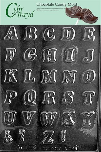 LETTERS A-Z SMALL (NEW!) Letters & Numbers Candy Mold Chocolate