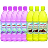 WASIQA FLOOR CLEANER ROSE FLAVOR PACK OF 5 1000 ML EACH + PACK OF 3 SANDAL FLAVOR 1000 ML EACH