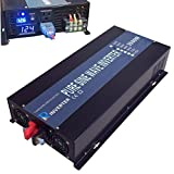 Reliable 3500W High Frequency LED Display 24V 120V Off Grid DC To AC Voltage Converter Home Power Supply True Pure Sine Wave Solar Power Inverter(Black)