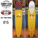 HPD ハワイアンプロデザイン Donald Takayama ドナルドタカヤマ サーフボード IN THE PINK 8'6 Yellow SURF TECH サーフテック