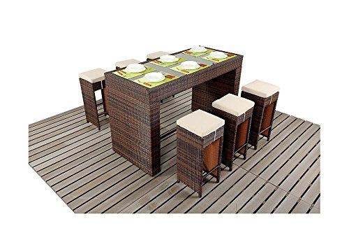 sydney rustic garden m bel esstisch f r 6 personen bar set jetzt bestellen. Black Bedroom Furniture Sets. Home Design Ideas