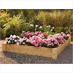 Rustic Natural Cedar Furniture Company Raised Bed Planter 4x6'