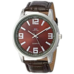 U.S. Polo Assn. Classic Men's US5166 Brown Dial Brown Crocodile Strap Watch
