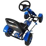TecTake-Gokart-Tretauto-Go-Kart-Tretfahrzeug-blau