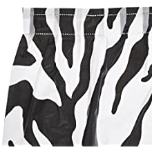 "Kwik-Cover KS3096PK-Z PKG. Zebra Kwik-Skirt With 30"" X 96"" White Cover Fitted Table Cover With Skirt, Individually Wrapped, 2 bags of 5"