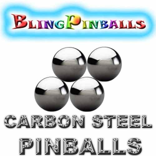 4 Carbon Steel Premium Bling Mirror Finish Pinballs - 1