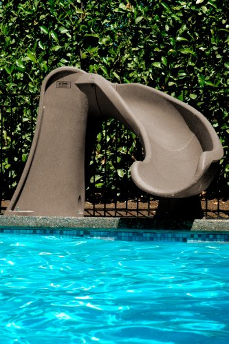 S.R.Smith 698-209-58110 Cyclone In-Ground Swimming Pool Slide Right Curve- Taupe (Swimming Pool Slide compare prices)