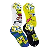 Sponge Bob Kids Anklets Socks 6-8 1/2 on Header Card