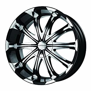 "Verde Custom Wheels Avatar Black Wheel with Machined Lip (20x8.5"") - Undrilled Blank"