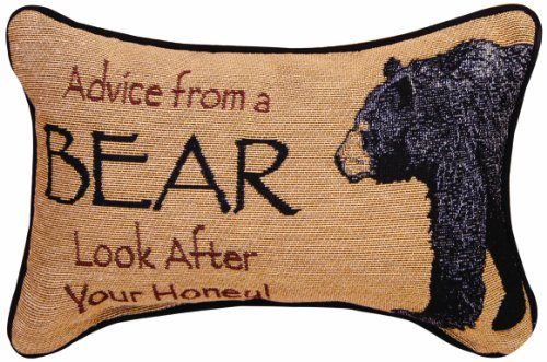 Manual The Lodge Collection Reversible Throw Pillow, 12.5 X 8.5-Inch, Advice from a Bear X Your True Nature