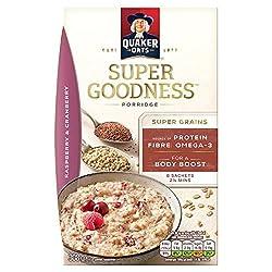 Quaker Oats Super Goodness Porridge, Raspberry & Cranberry, 308g