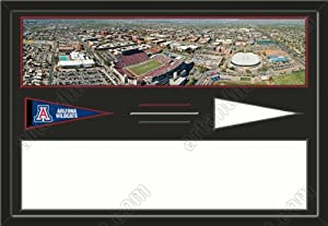Arizona Wildcats Arizona Stadium & Your Choice Of Stadium Panoramic Framed-House... by Art and More, Davenport, IA