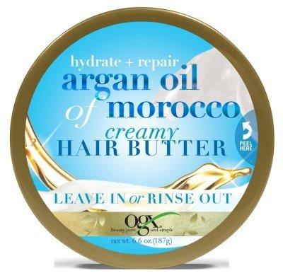 Ogx Argan Oil Of Morocco Creamy Hair Butter 6.6oz Jar