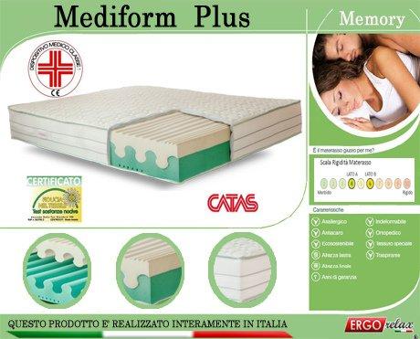 Materasso Memory Mod. Mediform Plus Presidio Medico Altezza Cm. 22 - Ergorelax - matrimoniale - 160 cm x 190 cm