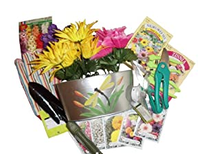 Spring has sprung gift basket mother 39 s day for Gardening tools gift basket