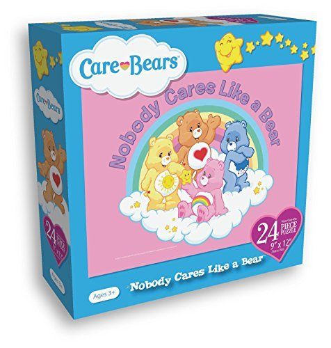 Care Bears 24 Piece Puzzle Measures 9x12 Inches Nobody Cares Like A Bear - 1