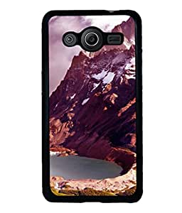 printtech Ice Mountain View Back Case Cover for Samsung Galaxy Core i8262::Samsung Galaxy Core i8260