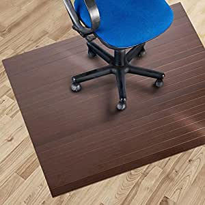 etm bamboo office chair mat 110 x 130 cm 3 39 8 x4 39 4 cherry suitable for hard floor. Black Bedroom Furniture Sets. Home Design Ideas