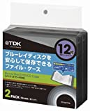 TDK LoR Blu-ray用 ファイルタイプ・ケース 12枚収納X2パック グラファイトカラー CASE-BDF12GR2A
