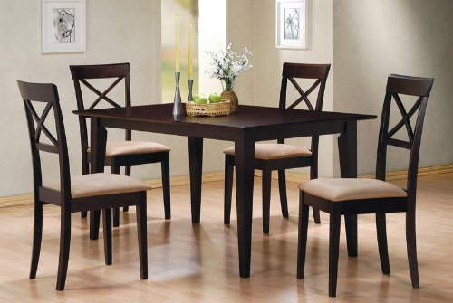 black friday 5 pc dining set criss cross back chairs chair set cheap