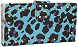 Iron Fist Blue Leopard Teasure Box Vegan Wallet w/ Crystal Studs