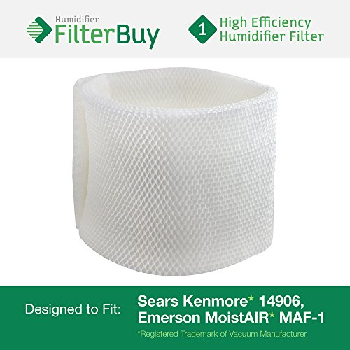 14906 Sears Kenmore Humidifier Wick Filter. Fits humidifier model numbers 14410, 14411, 14906, 15412, 29979, 29980, 29981, 29982, 144105, 144106, 144107, 144108, 144115, 144116, 144117, 144118, 154120, 299795, 299796C, 299805C, 299810, 299811, 299812C and 299825C. Designed by AFB in the USA. (Humidifier Filter Kenmore compare prices)
