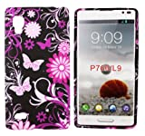 Kit Me Out UK IMD TPU Gel Case for LG Optimus L9 P760 - Black Pink Garden